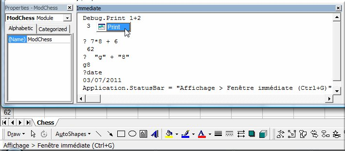 Calendrier Vba Excel 2020.Initiation A Excel Vba La Fenetre Execution Club D