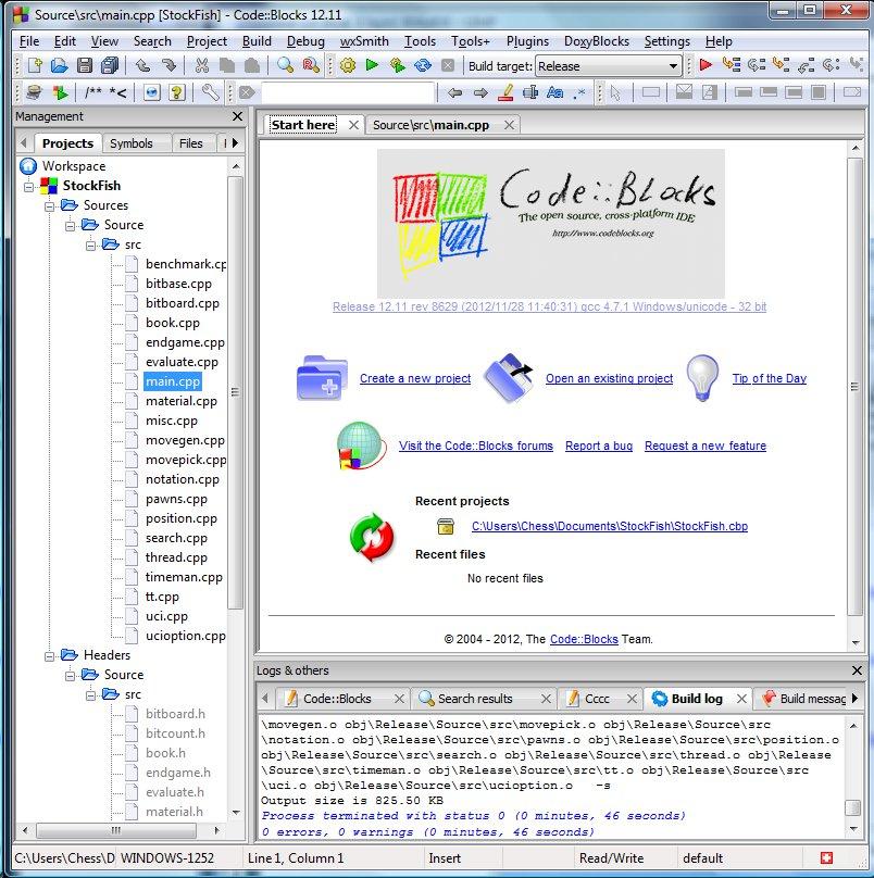 L'IDE CodeBlocks pour StockFish - Club d'Echecs Castelsarrasin-Moissac